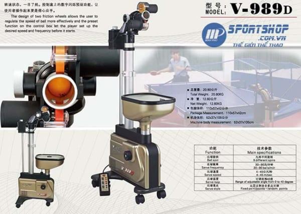 Máy bắn bóng bàn Y&T V-989D