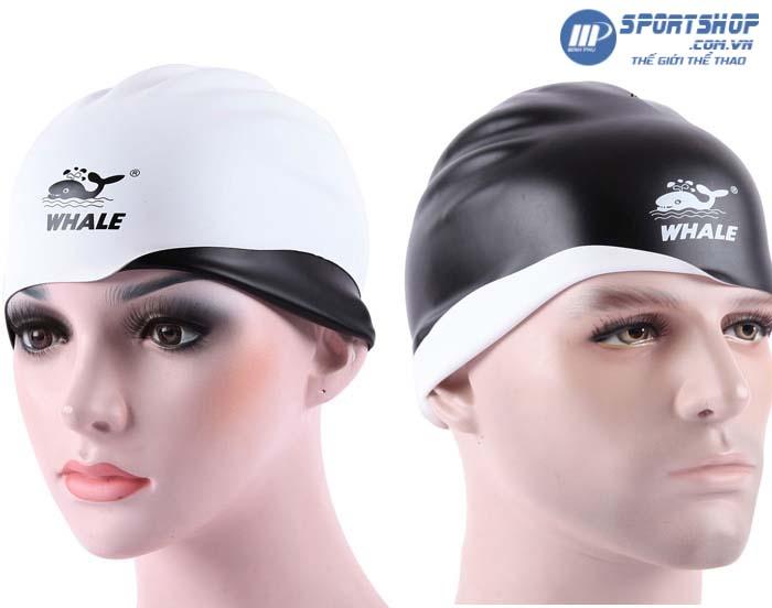 Mũ bơi 3D 2 mặt Whale CAP-1800