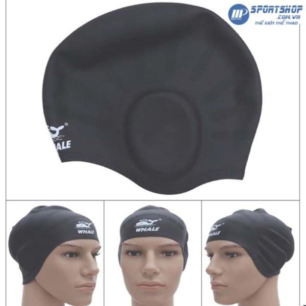 Mũ bơi che tai 3D Silicon